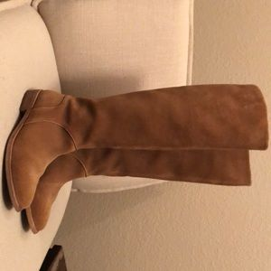 Ugg tall boot- camel in color- suede